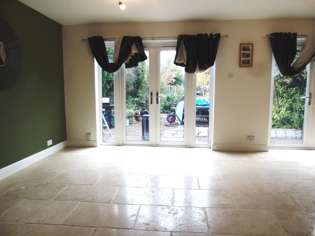 Limestone Tiled Lounge Floor After Cleaning in Vale Gloucestershire
