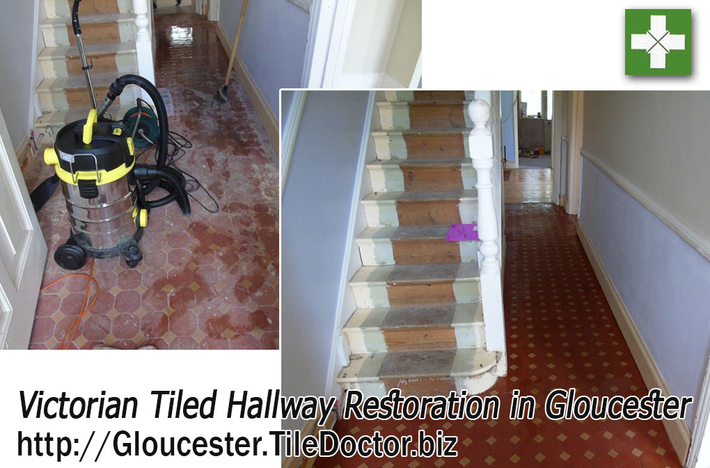 Renovating Dull Victorian Tiles in Gloucester