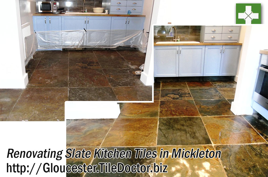 Renovating Slate Kitchen Tiles in Mickleton
