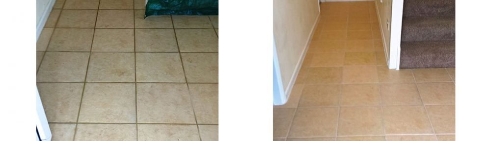 Ceramic Tiles and Grout Lines Rejuvenated in a Gloucester Hallway
