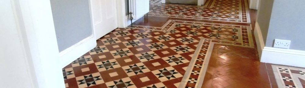 Dirty Victorian Hallway Tiles Rejuvenated in Tewkesbury