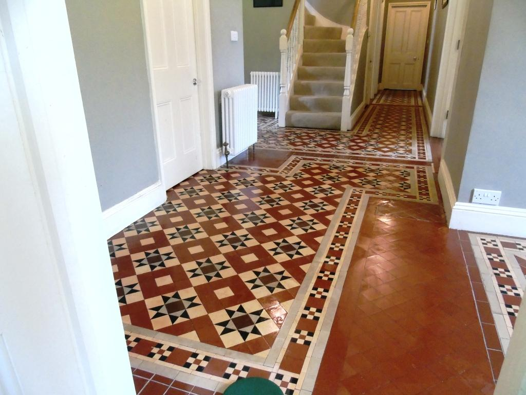 Large Victorian Hallway Tewkesbury After Clean and Seal