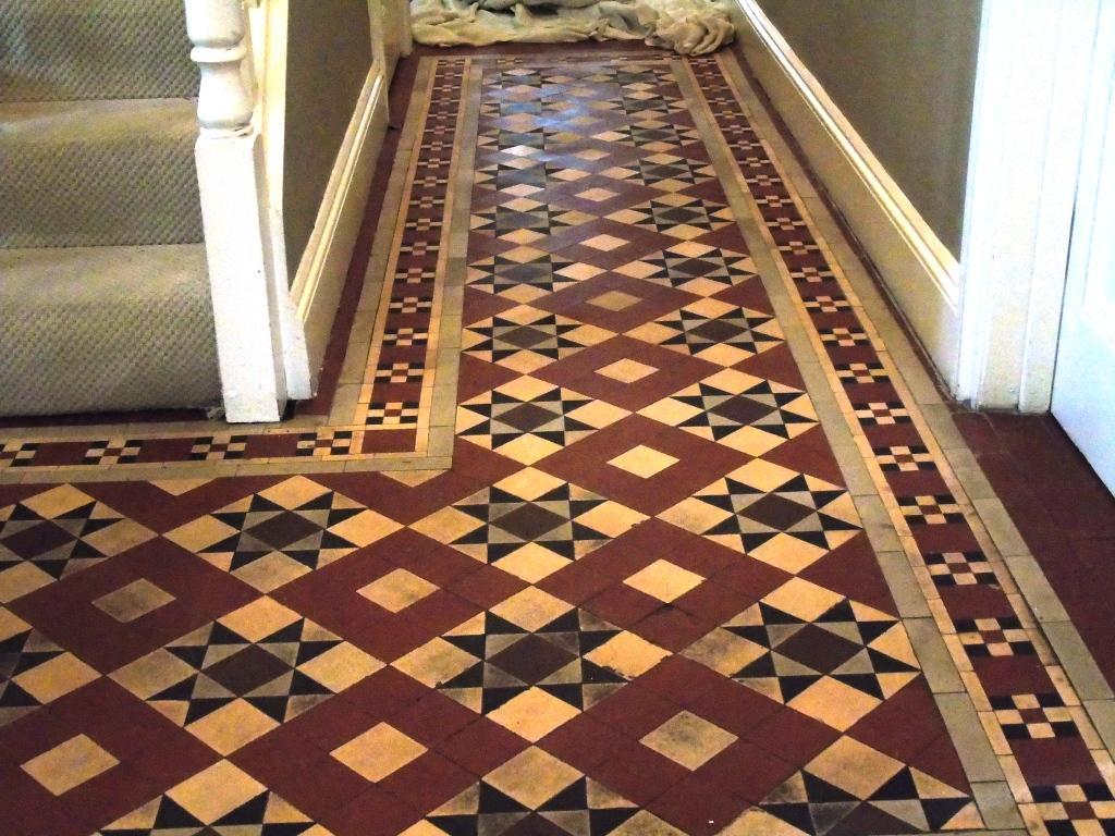 Large Victorian Hallway Tewkesbury Before Cleaning