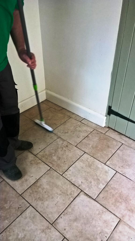 Ceramic Tiled Floor Westmancoate Cleaning Grout Lines