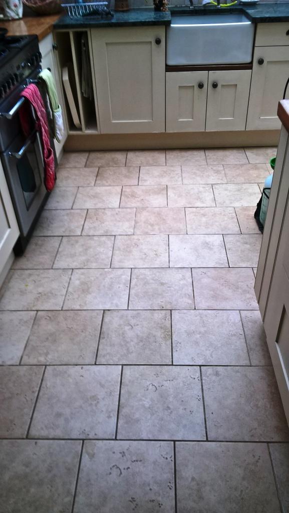 Ceramic Tiled Floor Westmancoate before cleaning