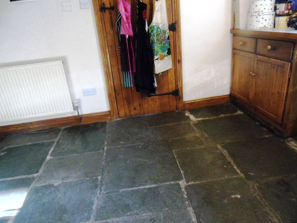 Restoring Salvaged Flagstone Flooring