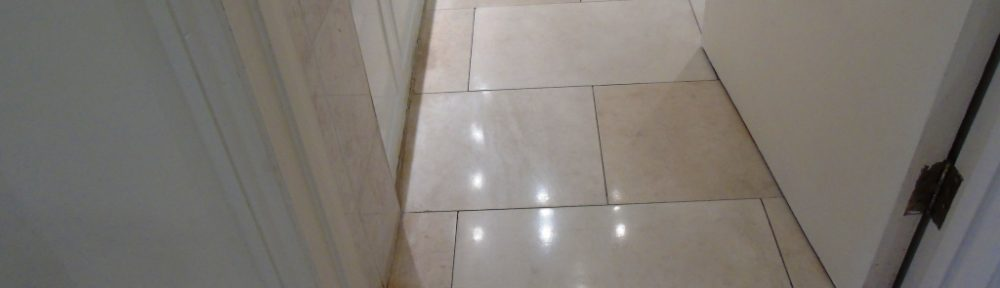 Restoring the Appearance of a Polished Limestone Tiled Floor in Cirencester