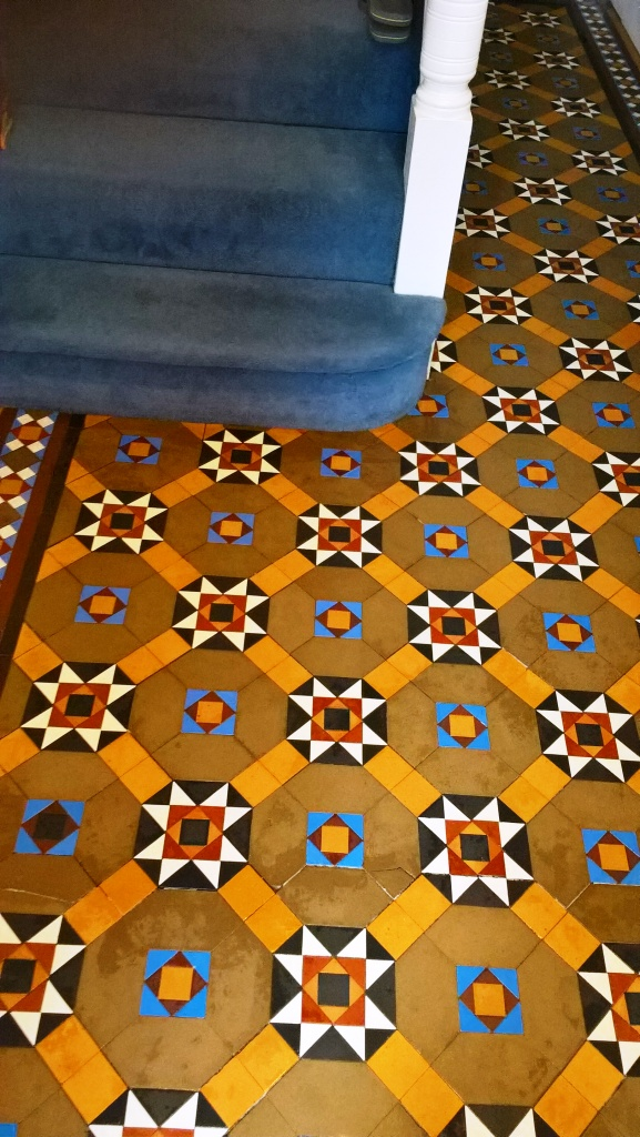 Victorian Tiles After Repair Clean and Seal Cheltenham