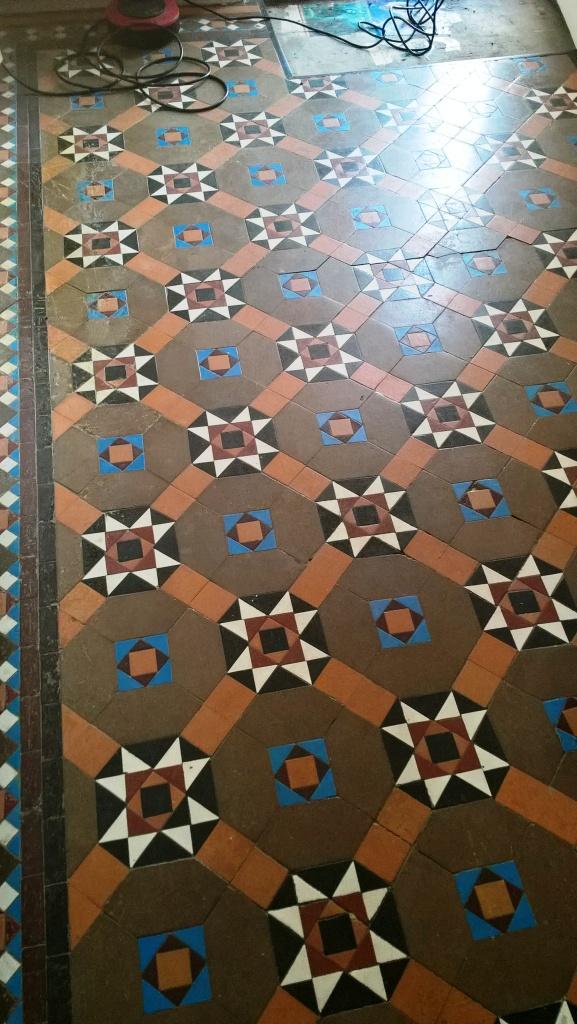 Victorian Tiles Before Repair Clean and Seal Cheltenham