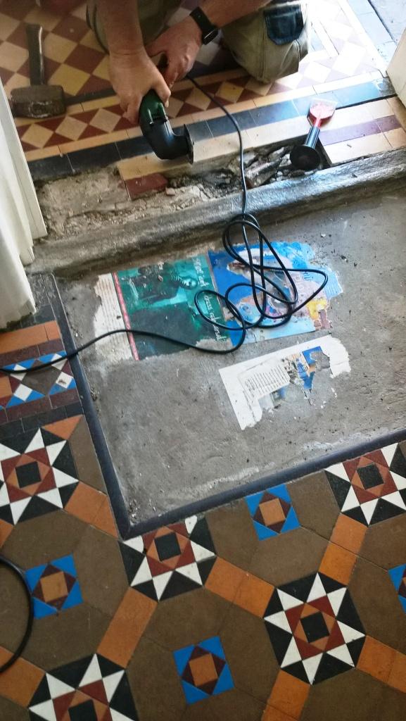 Victorian Tiles During Repair Cheltenham