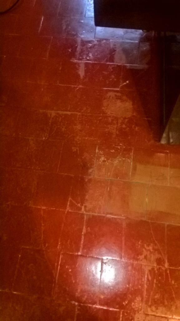 Quarry Tiled Floor Cheltenham Before Removing Paint