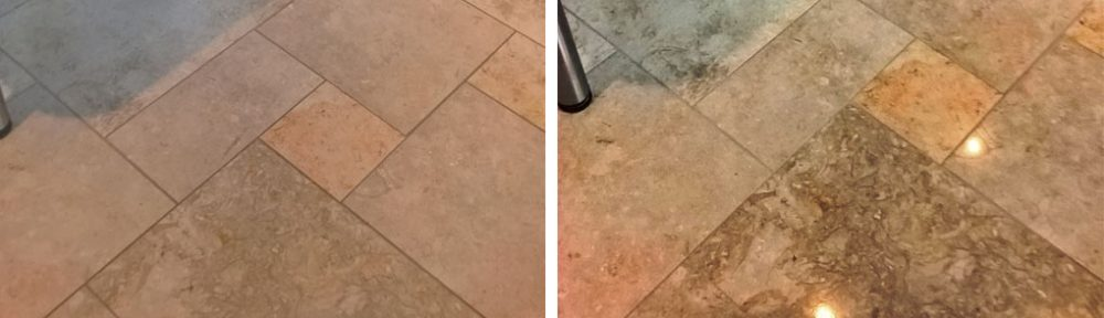 Restoring the Appearance of a Polished Limestone Tiled Floor in Cheltenham