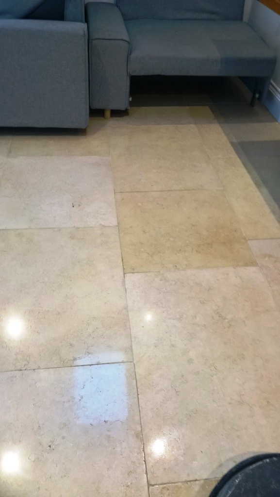 Polished Travertine Cirencester After Polishing