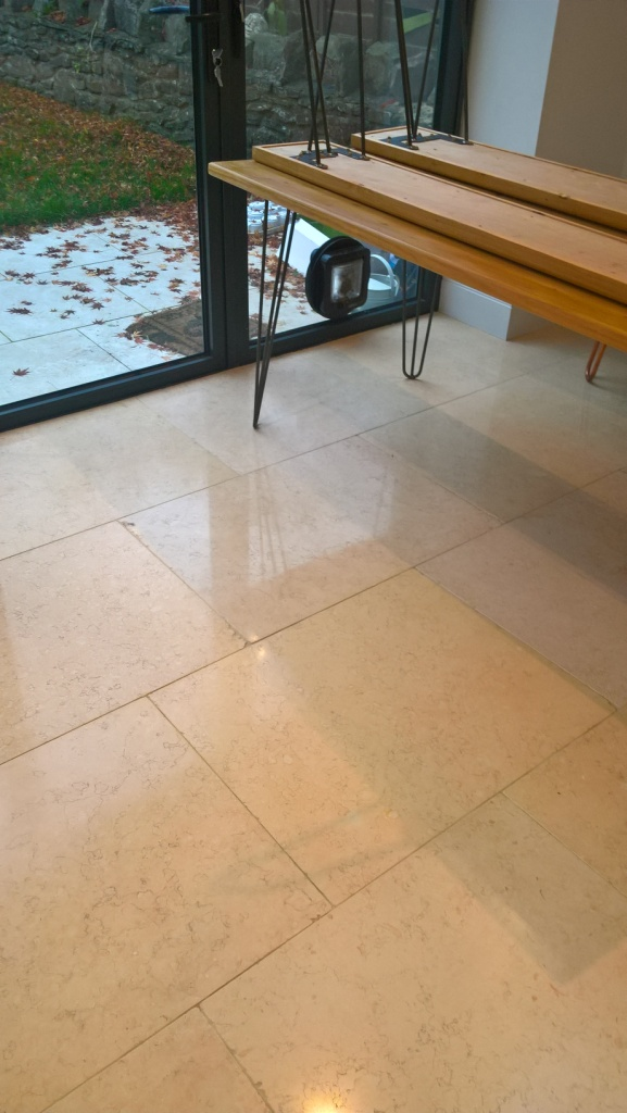 Polished Travertine Cirencester During Polishing