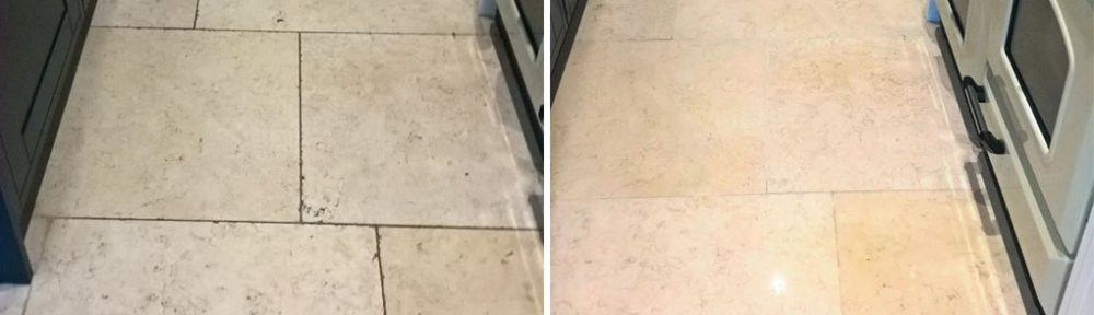 Restoring the Appearance of Travertine Kitchen Tiles in Cirencester