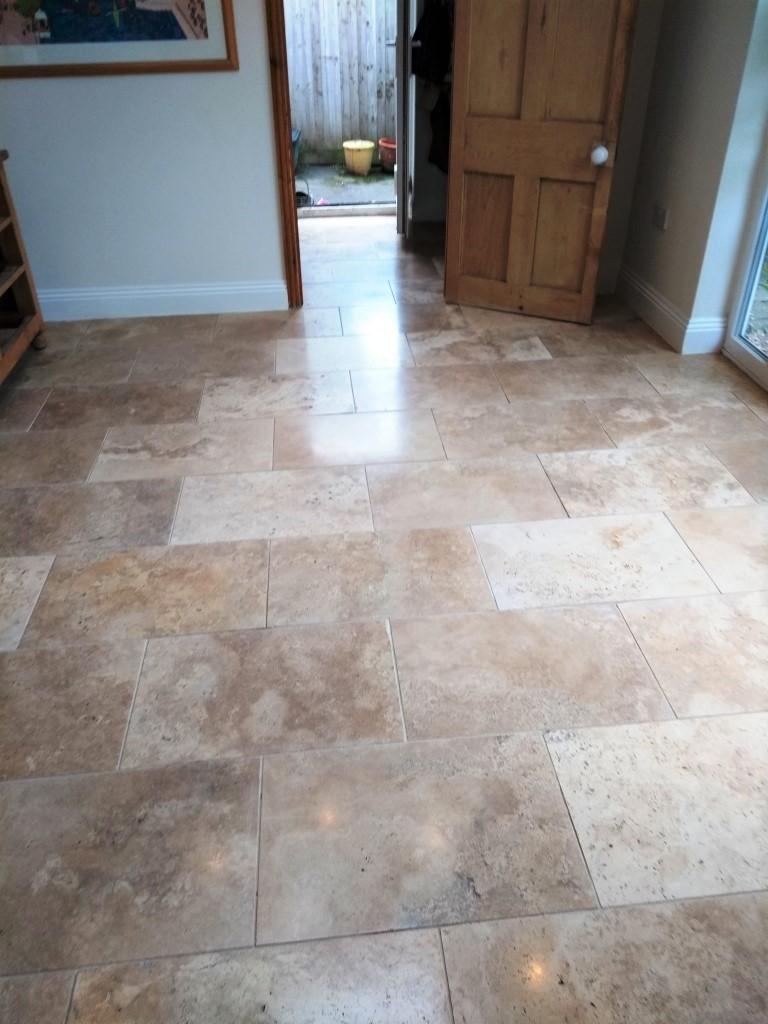 Travertine Floor Cheltenham After Cleaning