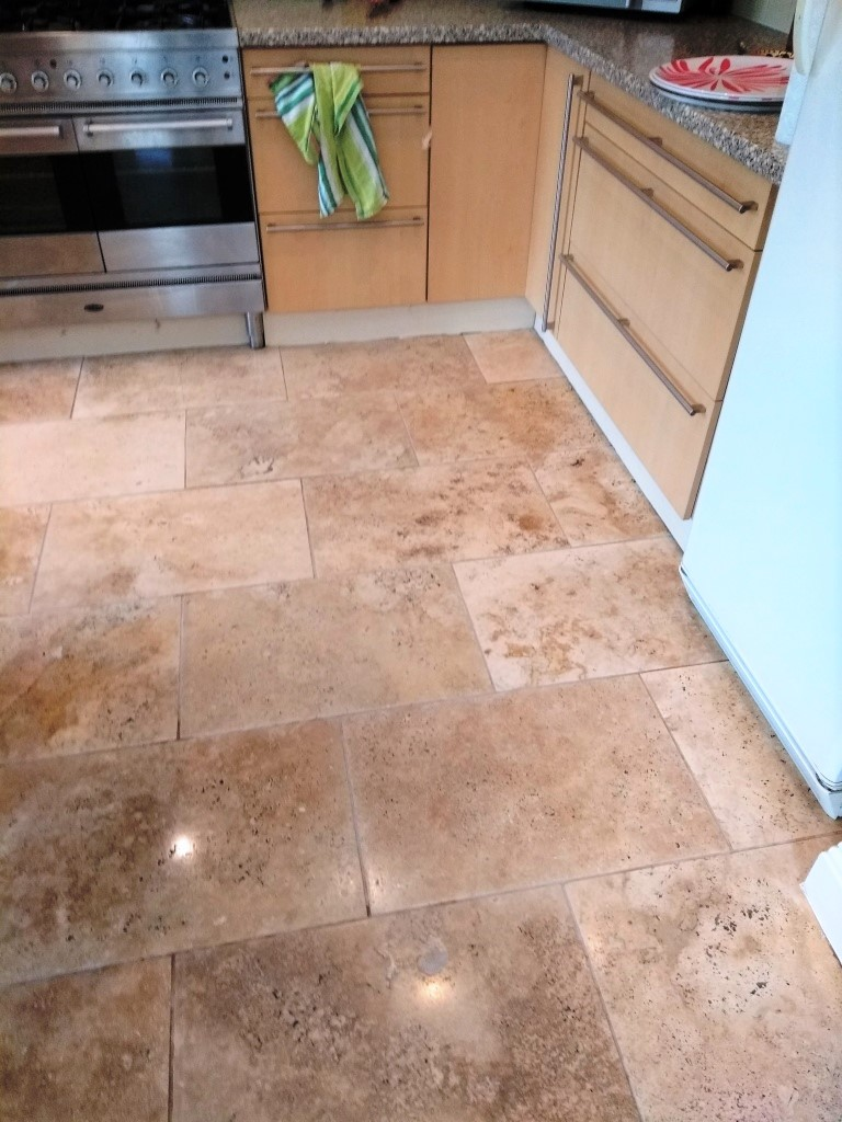 Travertine Floor Cheltenham After Cleaning