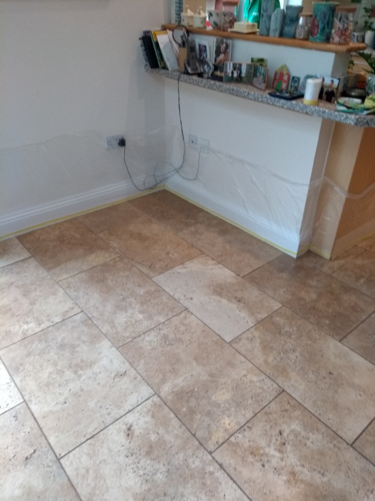 Travertine Floor Cheltenham Before Cleaning