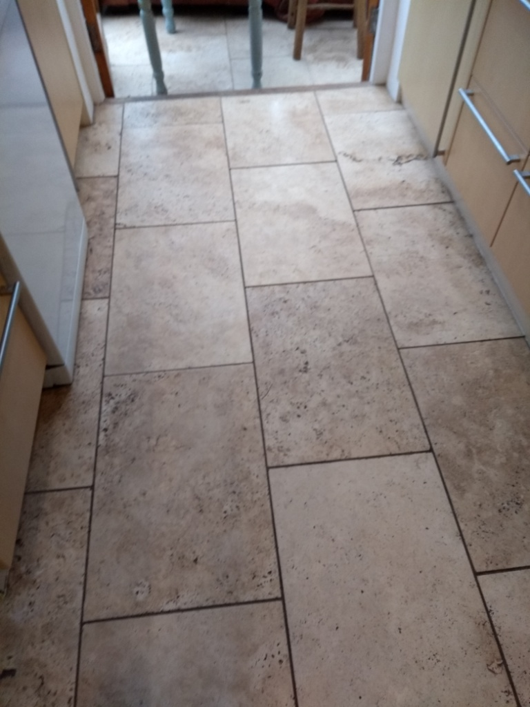 Travertine Floor Cheltenham Before Cleaning
