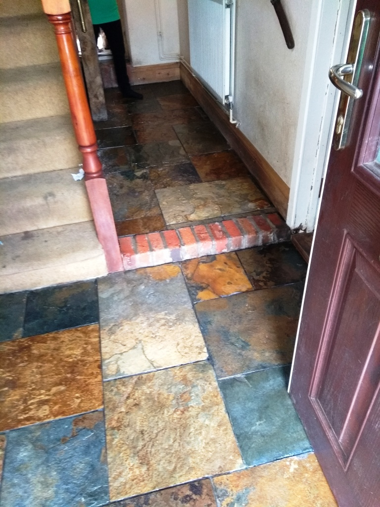 Chinese Slate Floor Cirencester After Cleaning