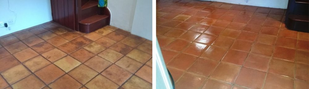 Wax Sealed Mexican Terracotta Floor Stroud