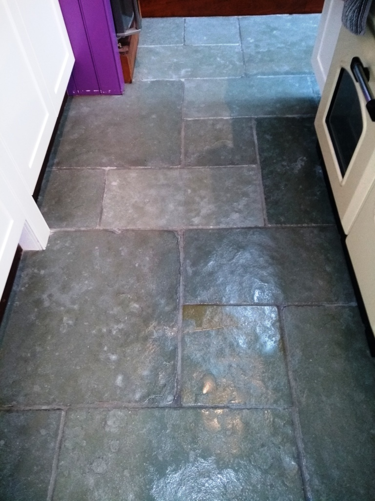 Flagstone Floor After Cleaning Dursley