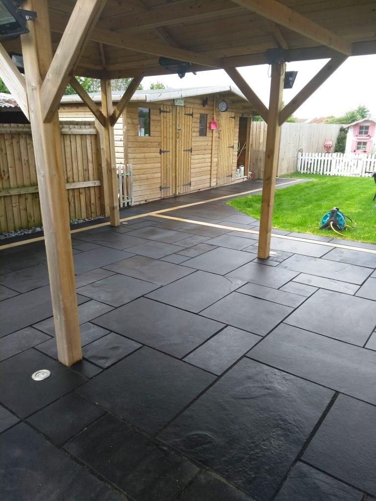 Black Limestone Patio After Renovation Cheltenham