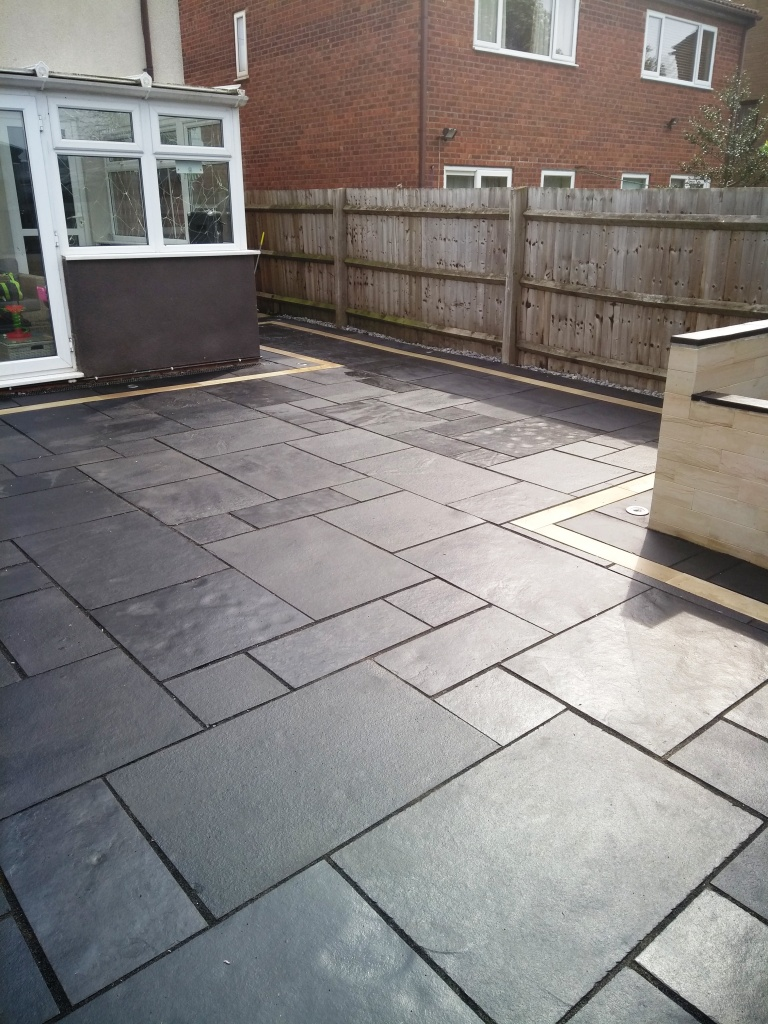 Black Limestone Patio After Renovation Cheltenham