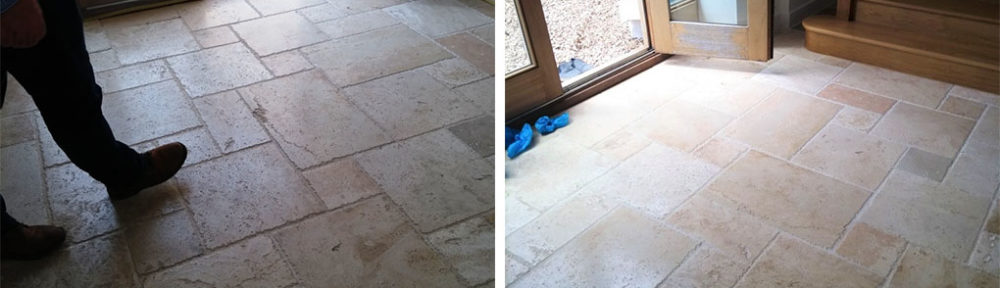 Travertine Tiled Floor Renovated in Bishop's Cleeve