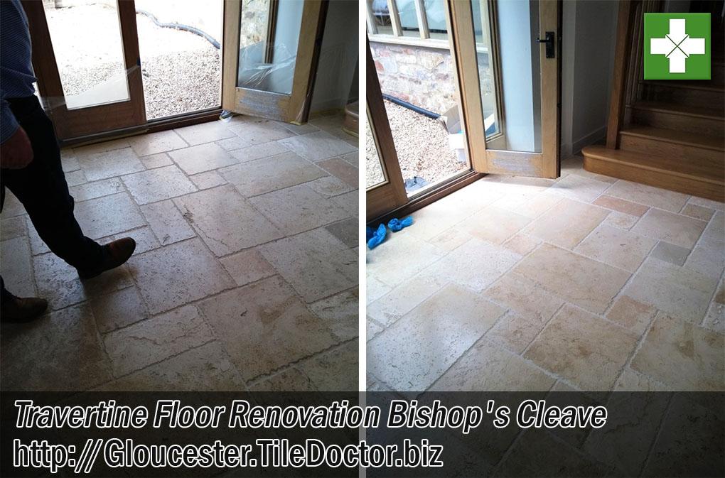 Travertine Tiled Floor Renovation Bishops Cleave