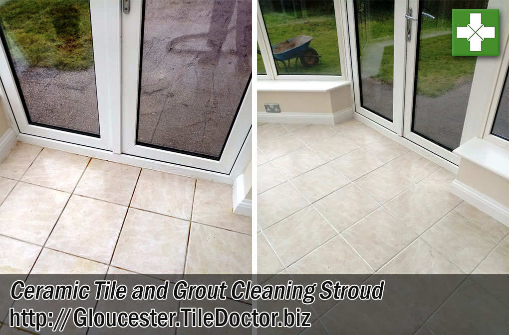 Ceramic Tile End Of Tenancy Before After Cleaning Stroud