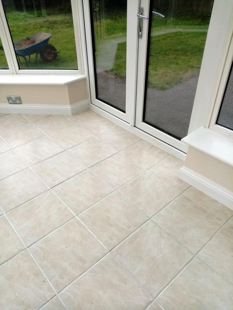 Ceramic Tiled Floor Grout After Cleaning Stroud Kitchen