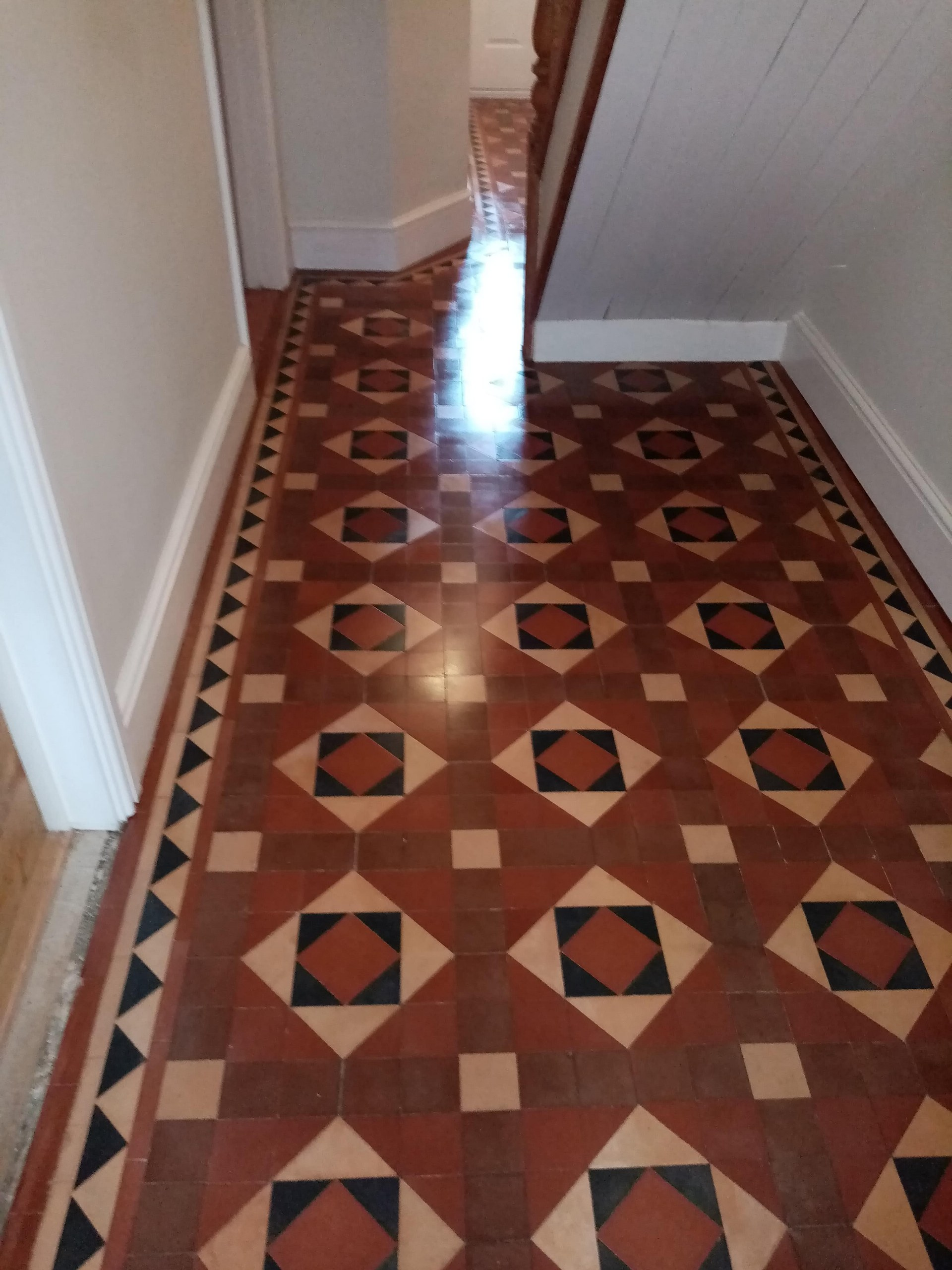 Victorian Tiled Hallway Floor After Renovation Nailsworth