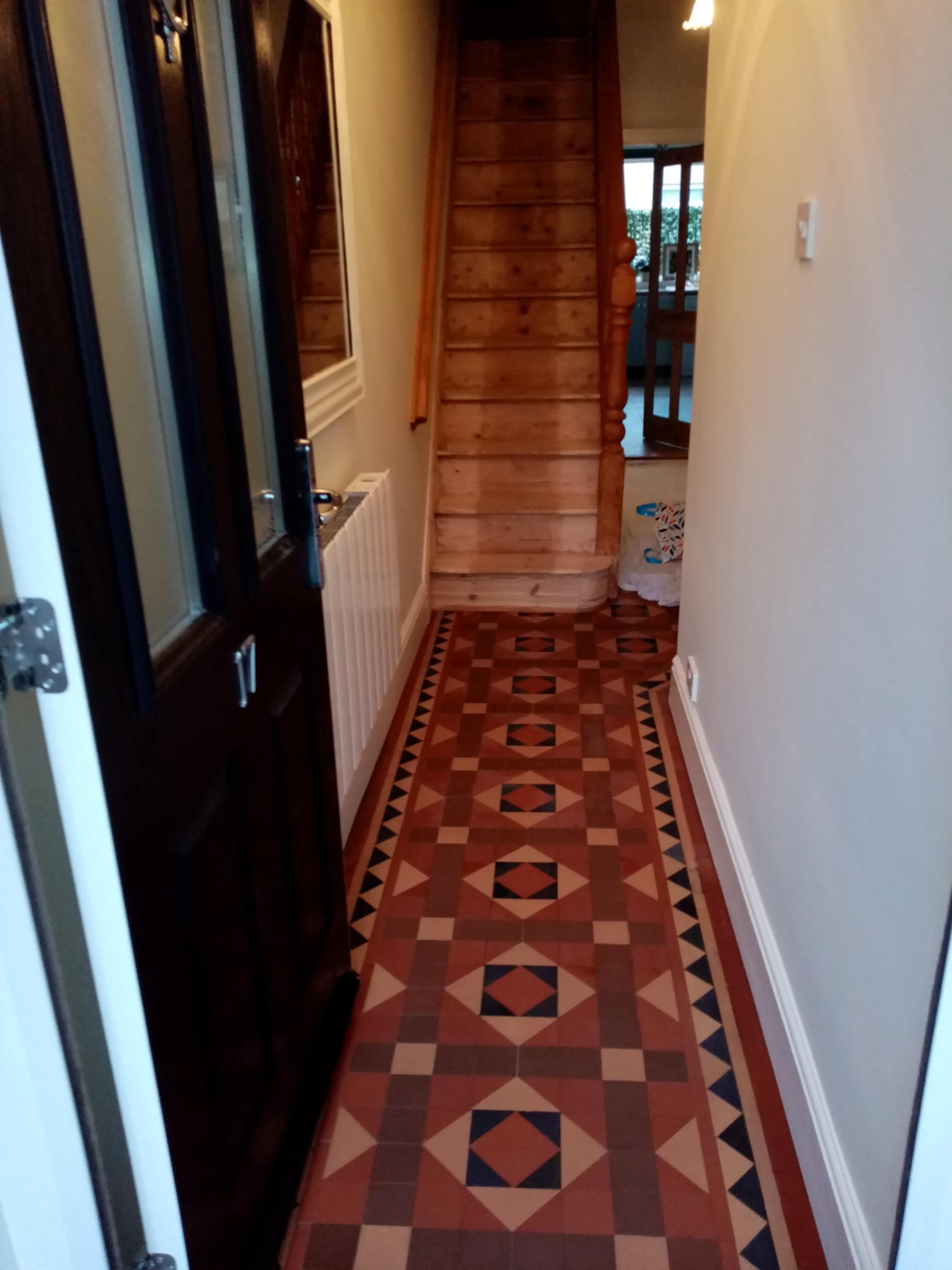 Victorian Tiled Hallway Floor After Repair Nailsworth