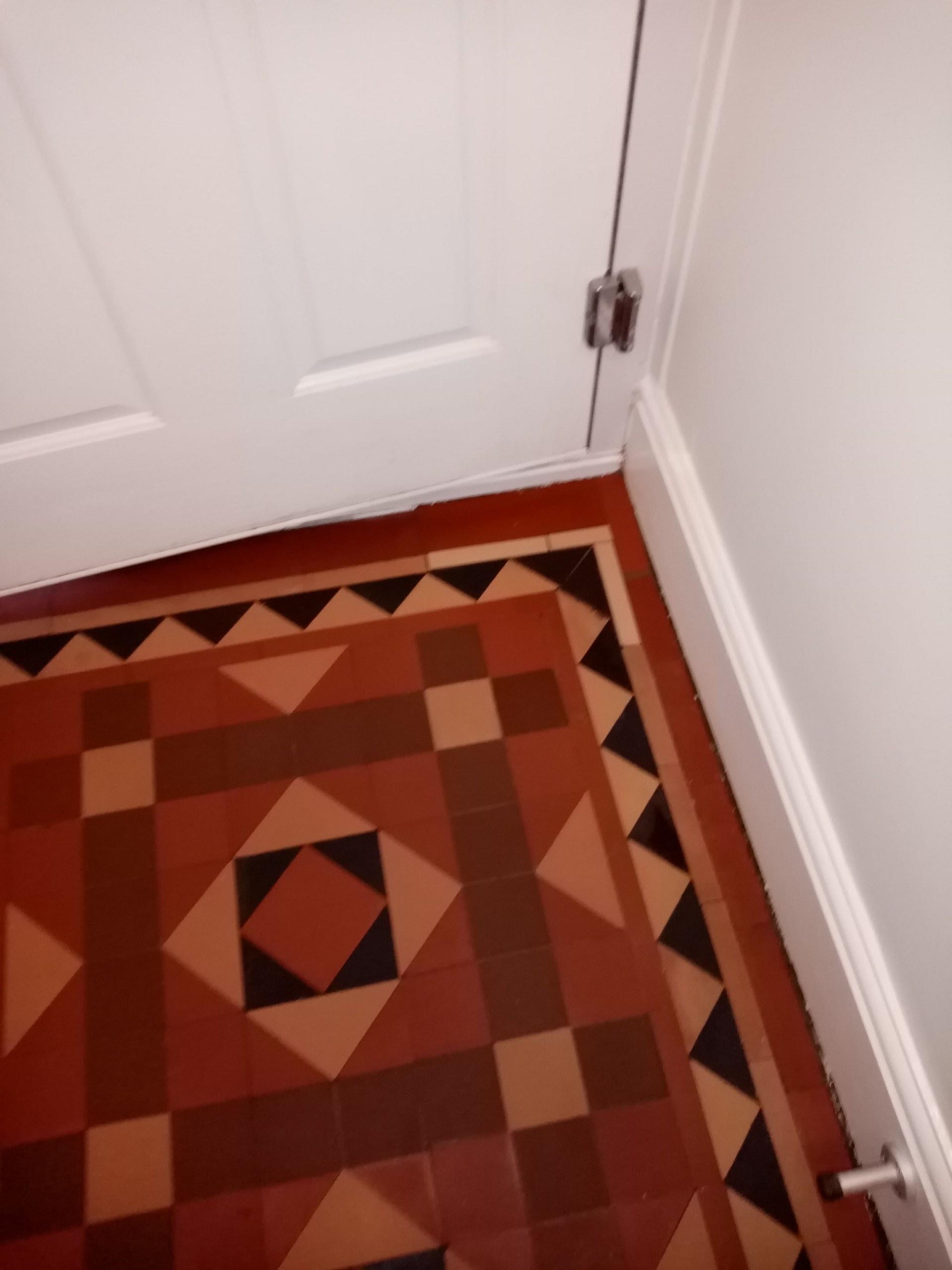 Victorian Tiled Hallway Floor After Repair Nailsworth