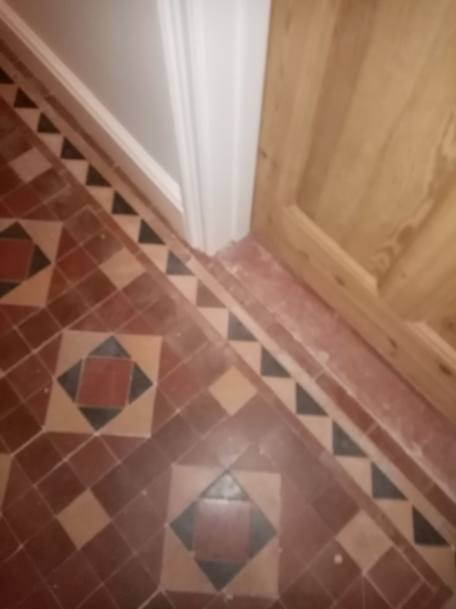 Victorian Tiled Hallway Floor Before Renovation Nailsworth