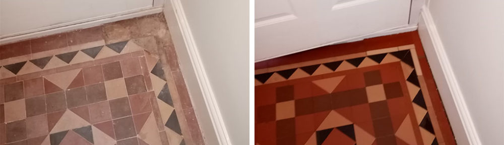 Restoring a Victorian Tiled Hallway in Nailsworth