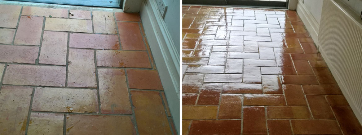 Stripping Varnish off Terracotta Kitchen Tiles and Resealing in Bristol