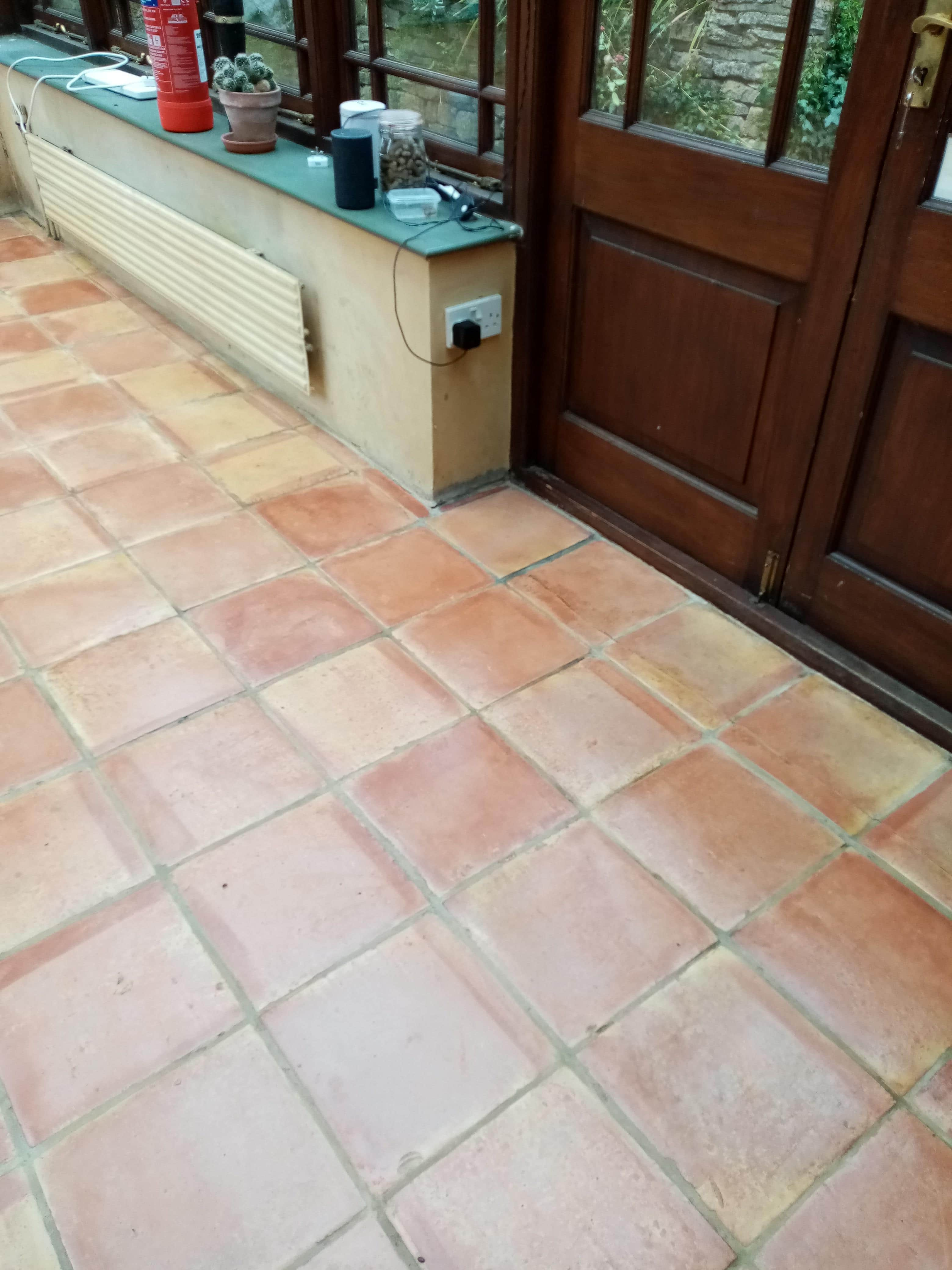 Terracotta Conservatory Floor Dursley After Sealing
