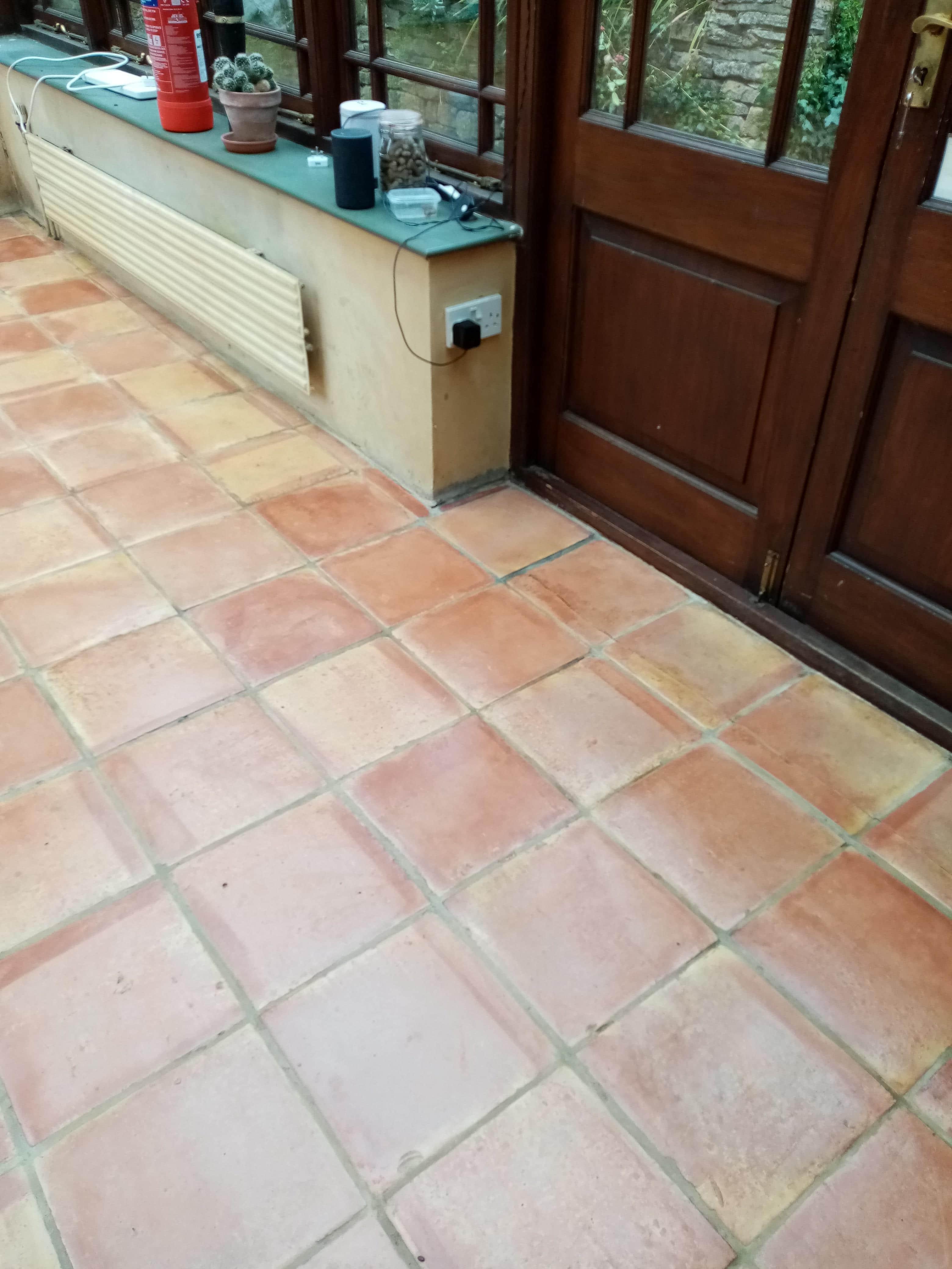 Terracotta Conservatory Floor Dursley After Sealing