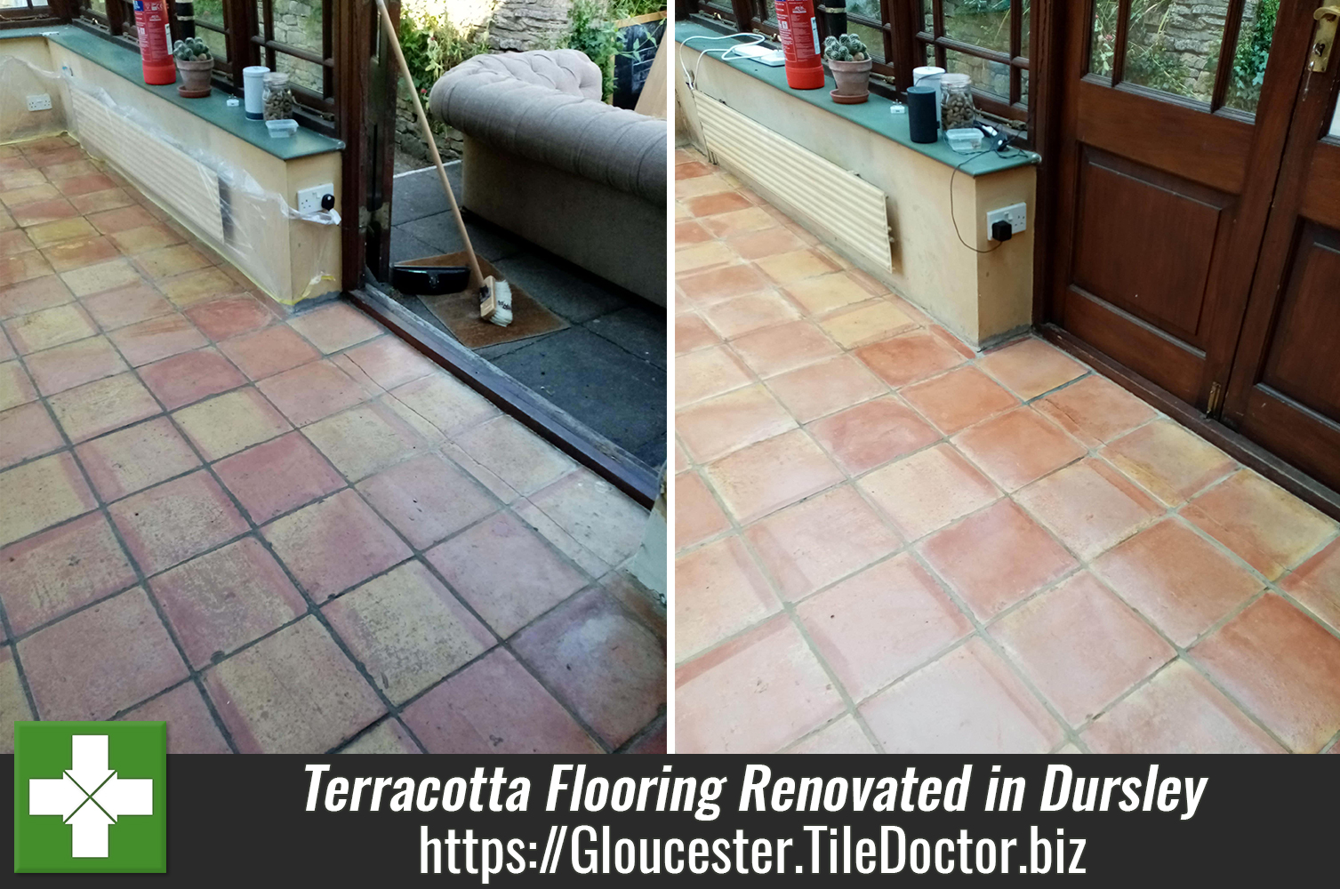 Terracotta Flooring Before After Renovation Dursley