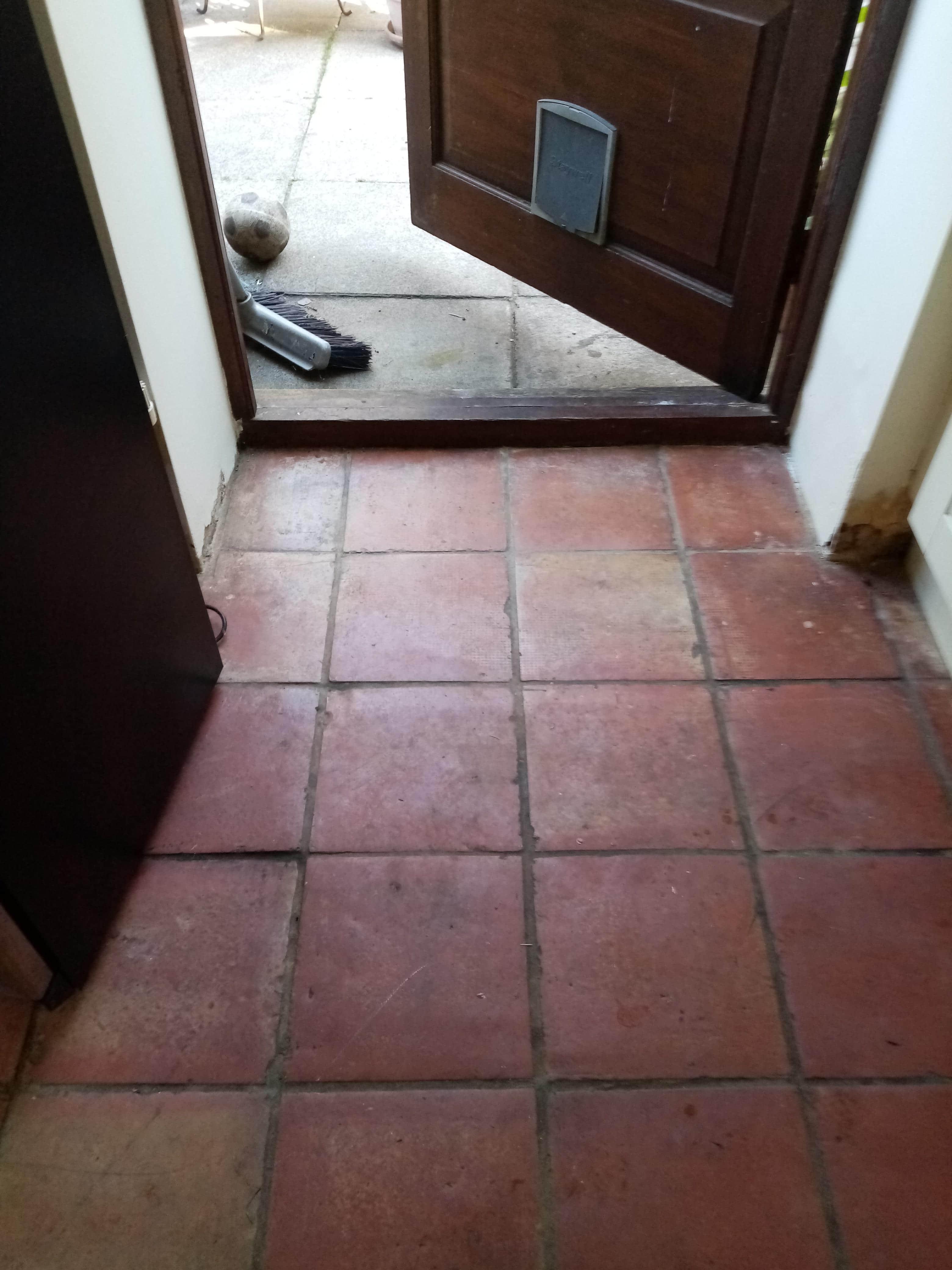 Terracotta Kitchen Floor Dursley Before Cleaning