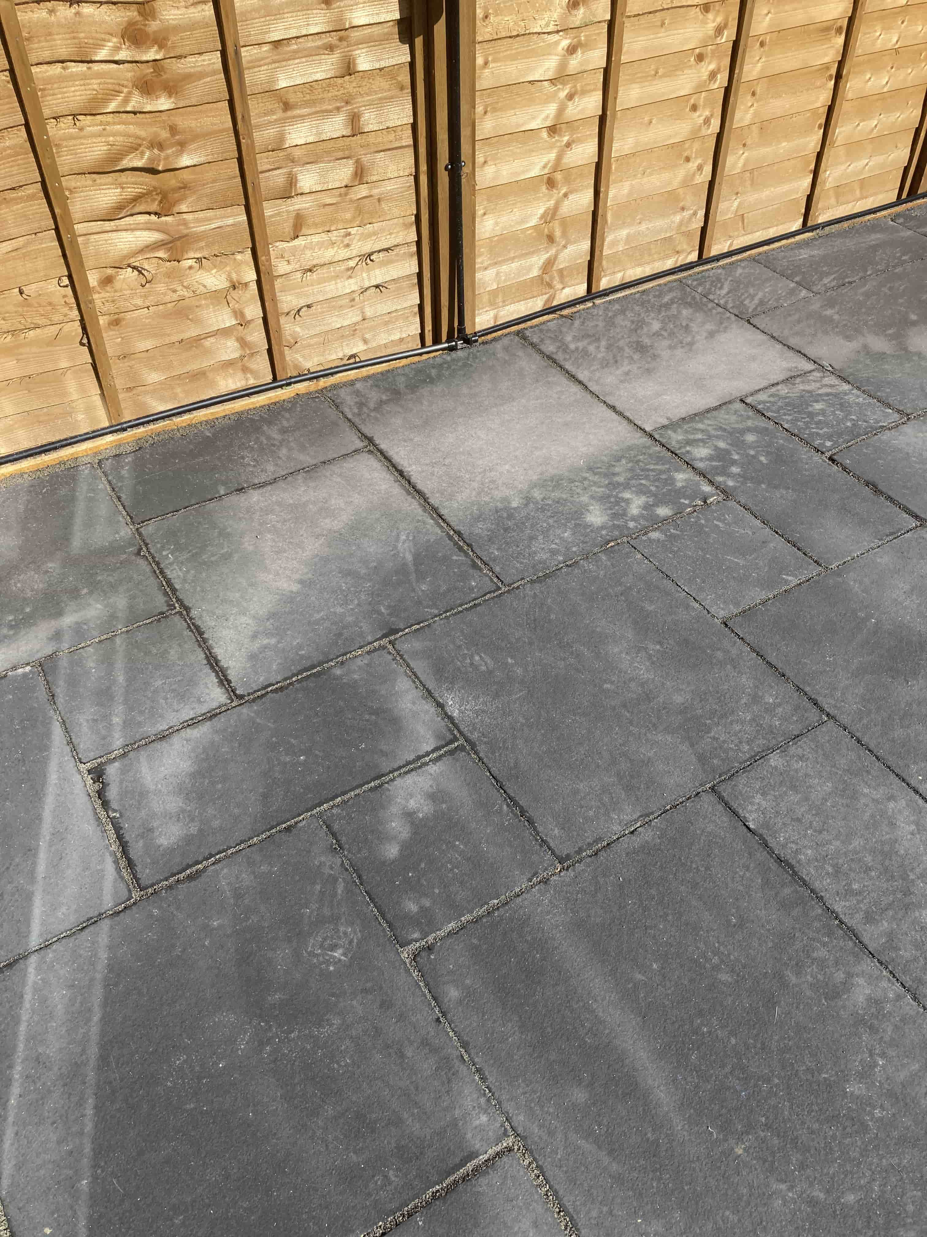 Black Limestone Patio Before Renovation Dursley