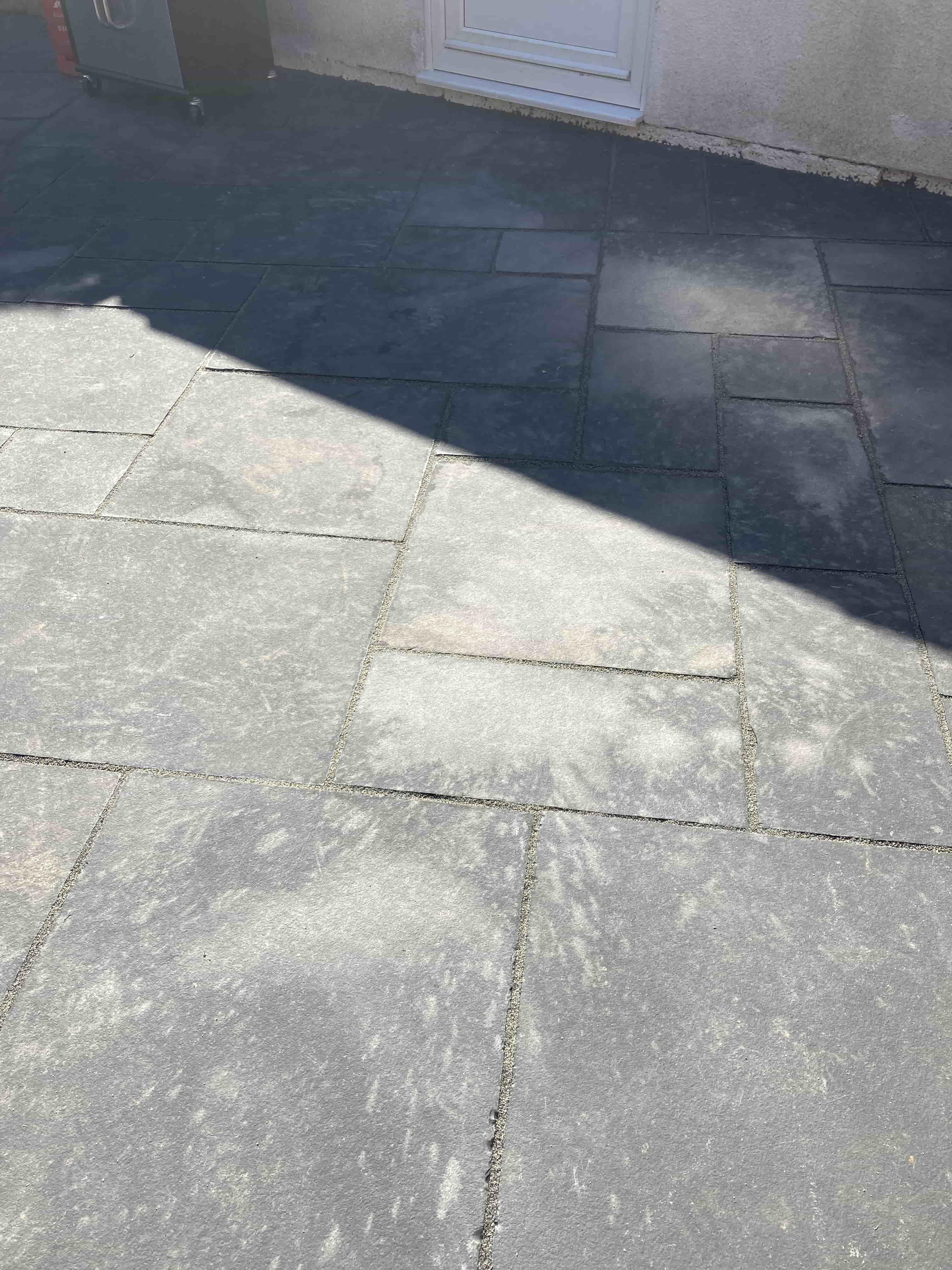 Black Limestone Patio Before Renovation Dursley
