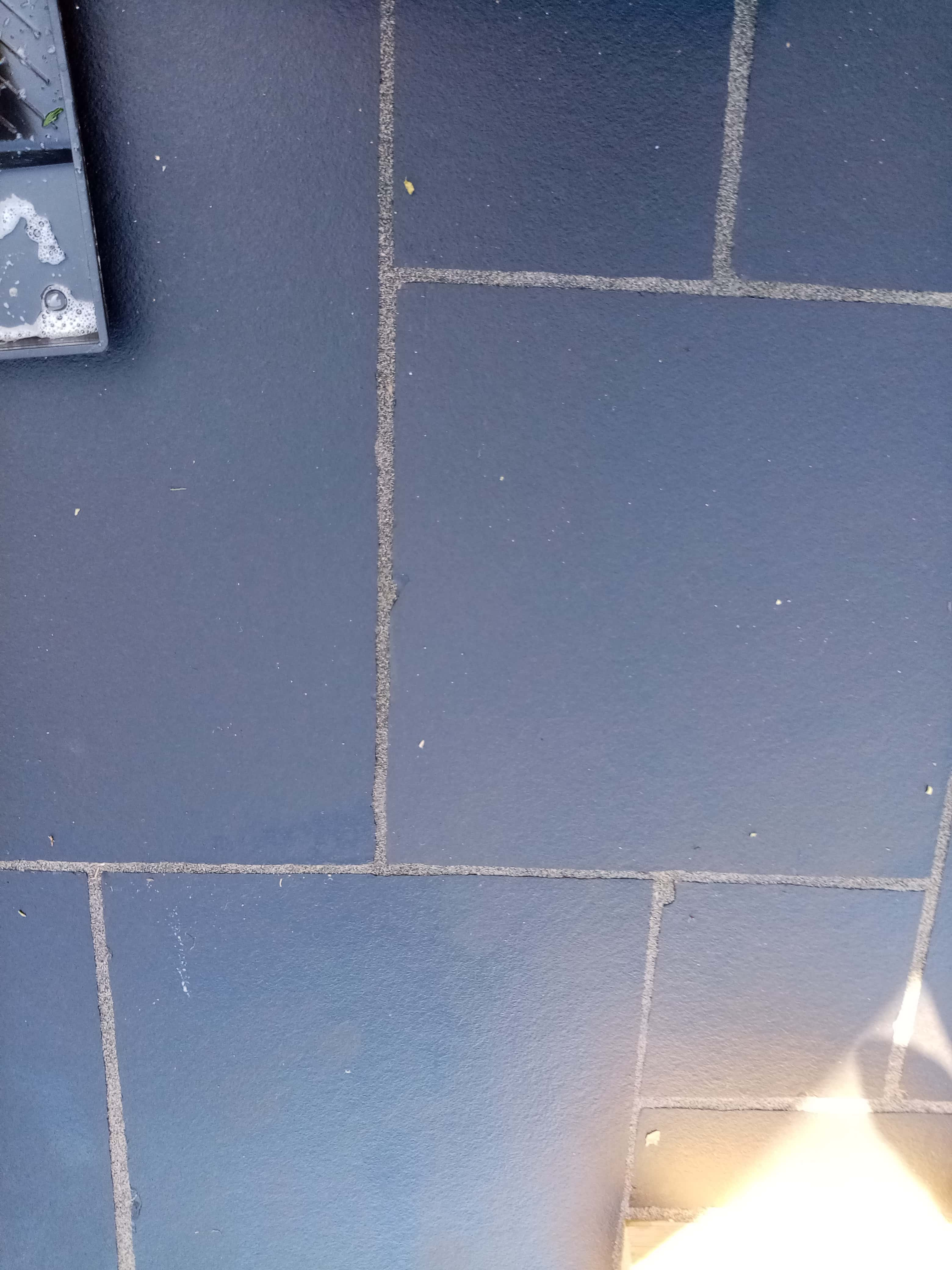 Black Limestone Patio During Sealing Dursley